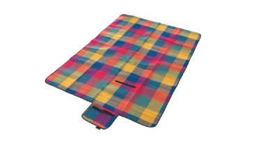 Easy Camp Multi Coloured Camping/ Garden Picnic Rug Blanket